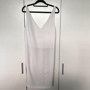 Zara Basic White Sleeveless Dress Size 10